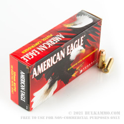 50 Rounds of 10mm Ammo by Federal American Eagle - 180gr FMJ