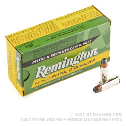 50 Rounds of .38 Spl +P Ammo by Remington Express - 125gr SJHP