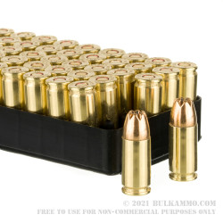 50 Rounds of 9mm Ammo by IMI - 115gr Di-Cut JHP