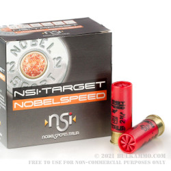 25 Rounds of 12ga Low Recoil Ammo by NobelSport - 1 1/8 ounce #7 1/2 shot