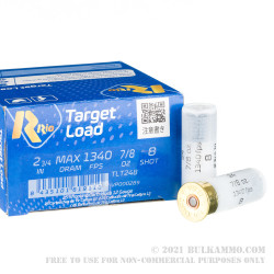 250 Rounds of 12ga Ammo by Rio Target Load Trap - 7/8 ounce #8 shot
