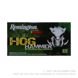 20 Rounds of .308 Win Ammo by Remington Hog Hammer - 168gr TSX