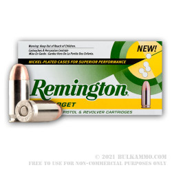 1000 Rounds of .45 ACP Nickel Ammo by Remington - 230gr MC