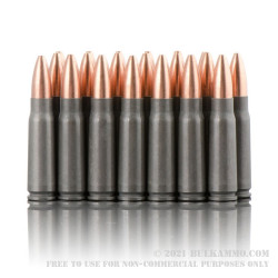 20 Rounds of 7.62x39mm Ammo by Tula - 124gr HP