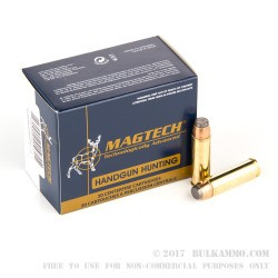 20 Rounds of .500 S&W Mag Ammo by Magtech - 400gr SJSP