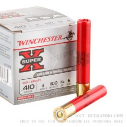 250 Rounds of .410 Ammo by Winchester -  #6 shot