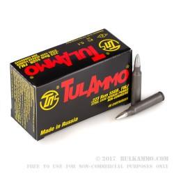 40 Rounds of .223 Ammo by Tula - 55gr FMJ
