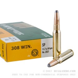 500  Rounds of .308 Win Ammo by Sellier & Bellot - 180gr SP