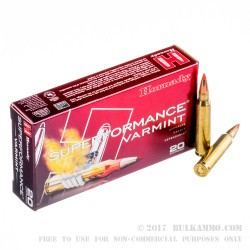 200 Rounds of .223 Ammo by Hornady Superformance Varmint - 53gr Polymer Tipped