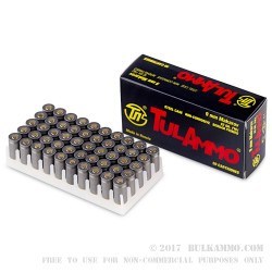 1000 Rounds of 9x18mm Makarov Ammo by Tula - 92gr FMJ