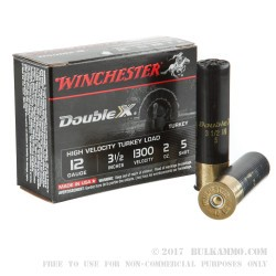 10 Rounds of 12ga Ammo by Winchester Double-X - 2 ounce #5 shot