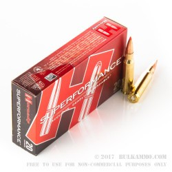 20 Rounds of .308 Win Ammo by Hornady Superformance - 150gr SST