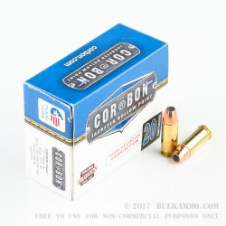 20 Rounds of +P .38 Super Ammo by Corbon - 125gr JHP