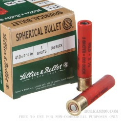 "25 Rounds of .410 Ammo by Sellier & Bellot - 2-1/2""  000 Buck"