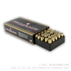50 Rounds of 10mm Ammo by ProGrade Ammunition - 180gr FMJ