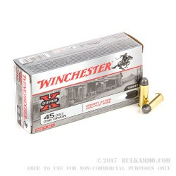 500  Rounds of .45 Long-Colt Ammo by Winchester - 250gr LFN
