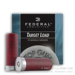25 Rounds of 12ga Ammo by Federal Top Gun - 1 ounce #8 shot High Velocity