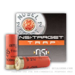25 Rounds of 12ga Ammo by NobelSport - 1 1/8 ounce #8 shot