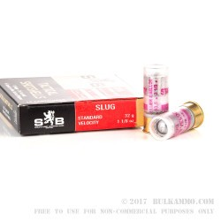 10 Rounds of 12ga Ammo by Sellier & Bellot - 1 1/8 ounce Slug