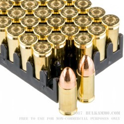 50 Rounds of 9mm Ammo by Magtech - 115gr FEB