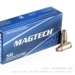 50 Rounds of .45 ACP Ammo by Magtech - 230gr FMJ Semi-Wadcutter