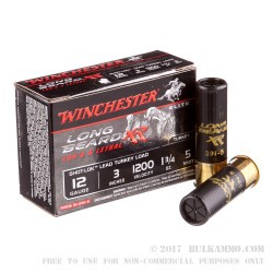 10 Rounds of 12ga Ammo by Winchester - 1 3/4 ounce #5 shot