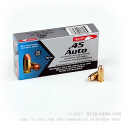 1000 Rounds of .45 ACP Ammo by Aguila - 230gr FMJ