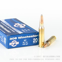 500  Rounds of .308 Win Ammo by Prvi Partizan - 150gr SP