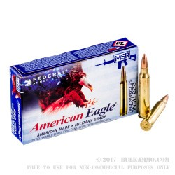 20 Rounds of .223 Ammo by Federal American Eagle - 55gr FMJ