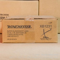"""5 Rounds of 12ga 3"""" Ammo by Winchester -  #1 Buck"""
