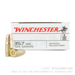 500  Rounds of .357 SIG Ammo by Winchester USA - 125gr JHP