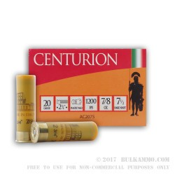 250 Rounds of 20ga Ammo by Centurion - 7/8 ounce #7 1/2 shot