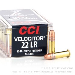 50 Rounds of .22 LR Ammo by CCI - 40gr CPHP