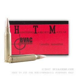 50 Rounds of .223 Ammo by BVAC Remanufactured - 55gr FMJ
