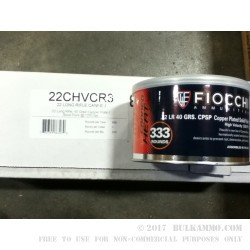 333 Rounds of .22 LR Canned Heat Ammo by Fiocchi - 40gr CPRN