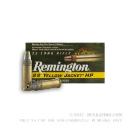 50 Rounds of .22 LR Ammo by Remington - 33gr TC- HP