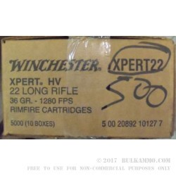 500  Rounds of .22 LR Ammo by Winchester - 36gr LHP