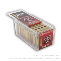 50 Rounds of .22 WMR Ammo by Hornady - 25gr Polymer Tipped NTX