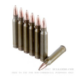 20 Rounds of .223 Ammo by Brown Bear - 55gr HP