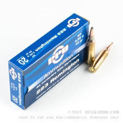 1000 Rounds of .223 Ammo by Prvi Partizan - 55gr Soft Point