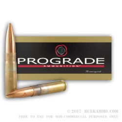 20 Rounds of .300 AAC Blackout Ammo by ProGrade Ammunition - 220gr HPBT