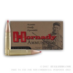 20 Rounds of .300 Whisper Ammo by Hornady - 110gr V-Max