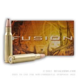 20 Rounds of .308 Win Ammo by Federal - 170gr Fusion Lite