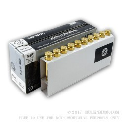 20 Rounds of .308 Win Ammo by Sellier & Bellot - 180gr Nosler Partition