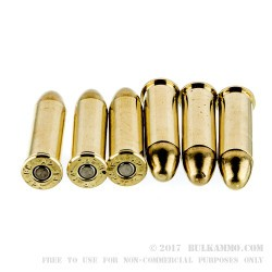 250 Rounds of .38 Spl Ammo by American Quality Ammunition - 158gr FMJBT