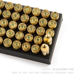 50 Rounds of 9mm Ammo by Sumbro - 115gr FMJ