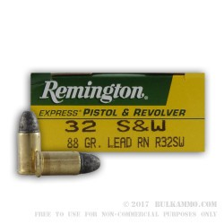 50 Rounds of .32S&W  Ammo by Remington Express - 88gr LRN
