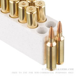 20 Rounds of .270 Win Short Mag Ammo by Winchester Power Max Bonded - 130gr HP