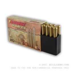 20 Rounds of .375 H&H Mag Ammo by Barnes - 300 gr TSX
