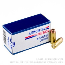20 Rounds of .50 AE Ammo by Armscor - 300 gr XTP JHP